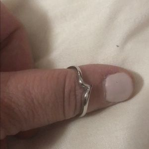Jewelry - 3/$15 Sterling silver ring with the V shape